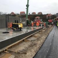 Klimatorium-beton elementerne er oppe